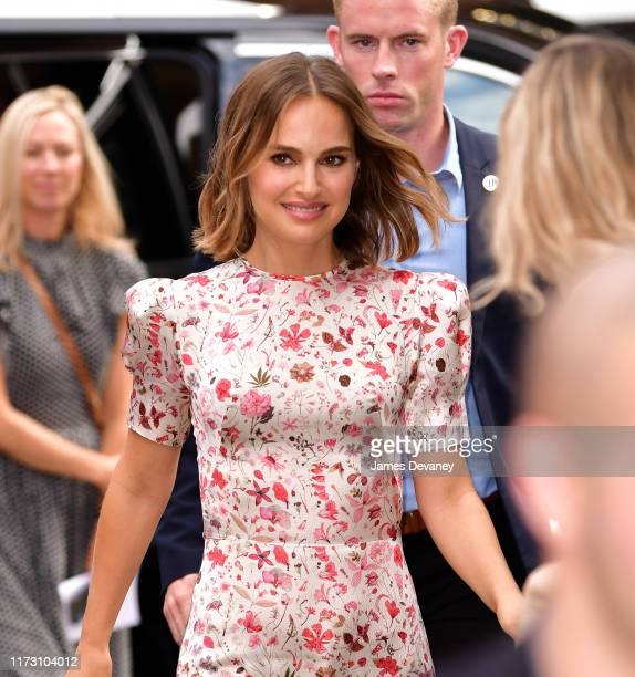 Natalie Portman is seen outside the Build Studio on October 2 2019 in New York City