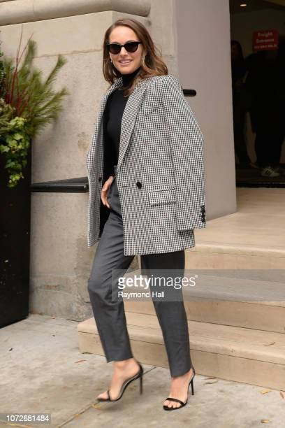Natalie Portman leaves BuzzFeed on December 13 2018 in New York City