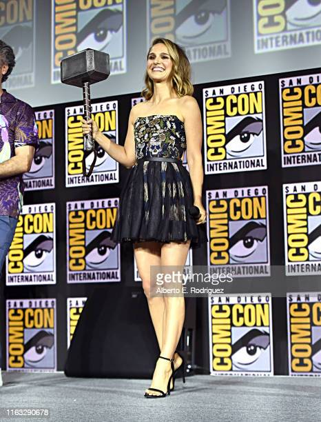 Natalie Portman of Marvel Studios' 'Thor Love and Thunder' at the San Diego ComicCon International 2019 Marvel Studios Panel in Hall H on July 20...