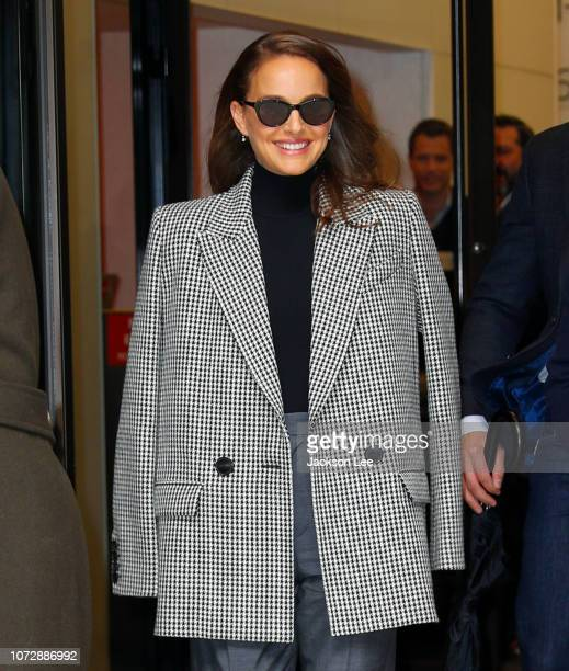 Natalie Portman out promoting 'Vox Lux' on December 13, 2018 in New York City.