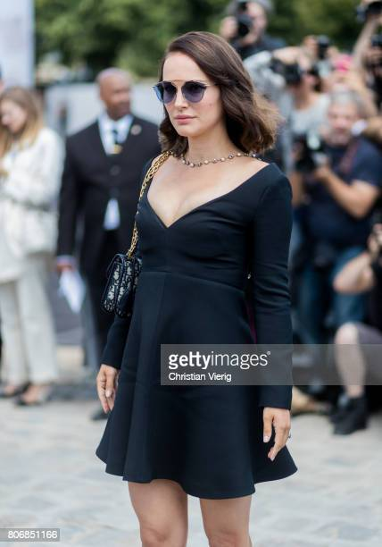 Natalie Portman outside Dior during Paris Fashion Week Haute Couture Fall/Winter 20172018 Day Two on July 3 2017 in Paris France