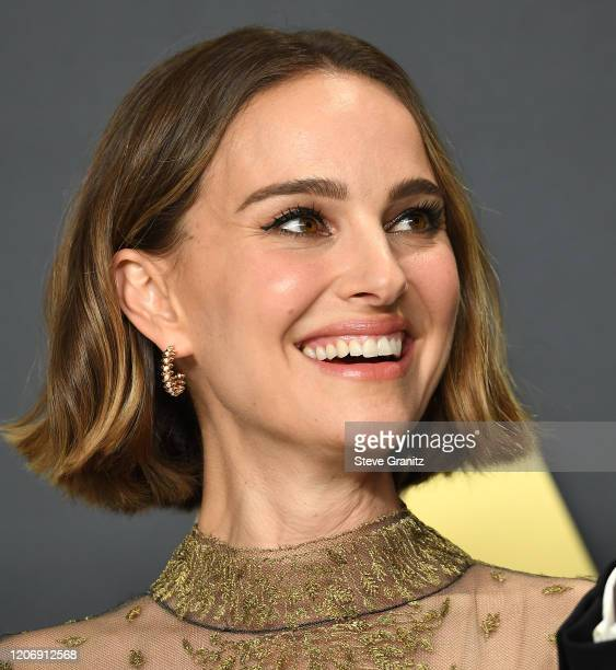 Natalie Portman poses at the 92nd Annual Academy Awards at Hollywood and Highland on February 09, 2020 in Hollywood, California.