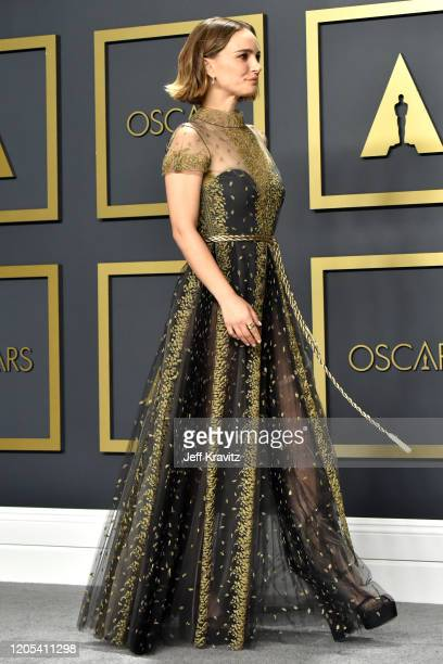 Natalie Portman poses in the press room during the 92nd Annual Academy Awards at Hollywood and Highland on February 09, 2020 in Hollywood, California.