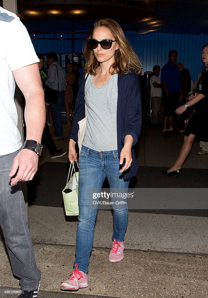 Natalie Portman seen at LAX on June 05, 2014 in Los Angeles, California.