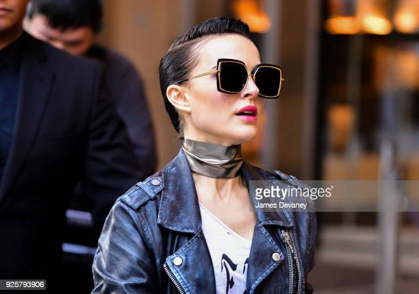 Natalie Portman seen on location for 'Vox Lux' in the Financial District on February 28 2018 in New York City