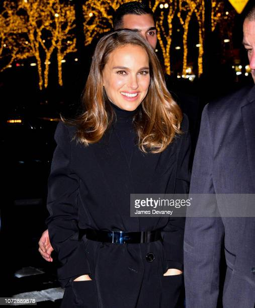 Natalie Portman seen on the streets of Manhattan on December 13 2018 in New York City