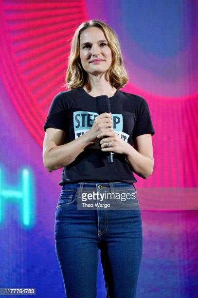 Natalie Portman speaks onstage during the 2019 Global Citizen Festival: Power The Movement in Central Park on September 28, 2019 in New York City.
