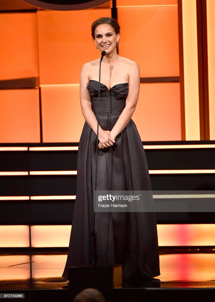 Natalie Portman speaks onstage during the 31st Annual American Cinematheque Awards Gala at The Beverly Hilton Hotel on November 10, 2017 in Beverly Hills, California.