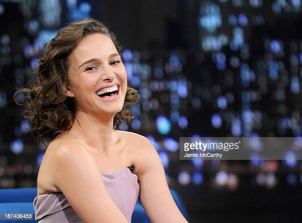 Natalie Portman visits Late Night With Jimmy Fallon on November 7 2013 in New York City