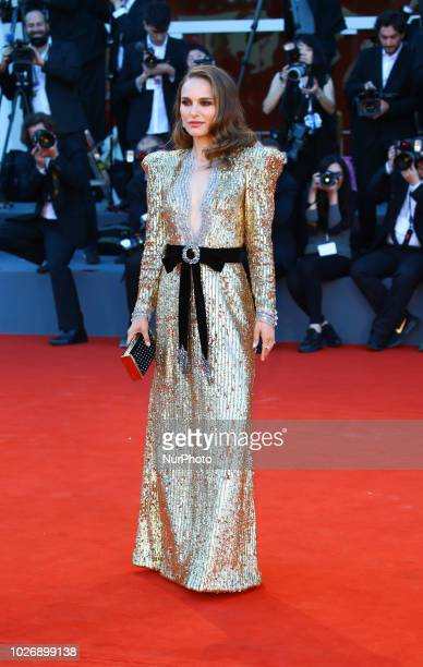 Natalie Portman walk the red carpet ahead of the 'Vox Lux' screening during the 75th Venice Film Festival on September 4, 2018 in Venice, Italy.
