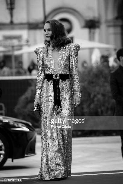 Natalie Portman walk the red carpet ahead of the 'Vox Lux' screening during the 75th Venice Film Festival on September 4 2018 in Venice Italy
