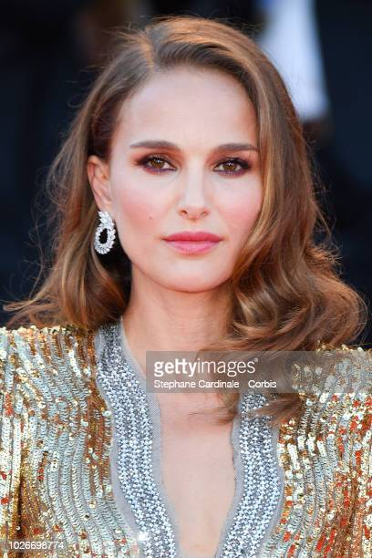 Natalie Portman walks the red carpet ahead of the 'Vox Lux' screening during the 75th Venice Film Festival at Sala Grande on September 4 2018 in...