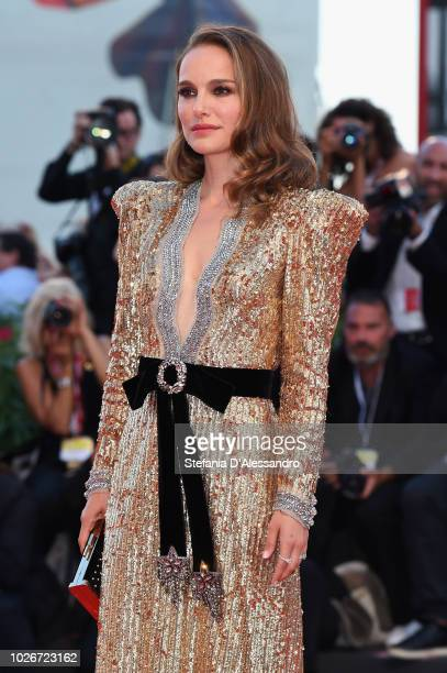 Natalie Portman walks the red carpet ahead of the 'Vox Lux' screening during the 75th Venice Film Festival at Sala Grande on September 4, 2018 in...