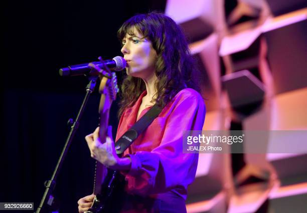 Natalie Prass performs at Radio Day Stage during SXSW at Radio Day Stage on March 16 2018 in Austin Texas