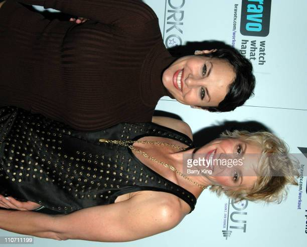 Natalie Raitano and Jackie Warner during Bravo's Workout Series Season 2 Premiere Party Inside at HERE Bar Lounge in West Hollywood CA United States