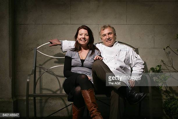 Natalie Reymond and her father Jacques Reymond on 3rd August, 2006. THE AGE EPICURE Picture by SIMON SCHLUTER.
