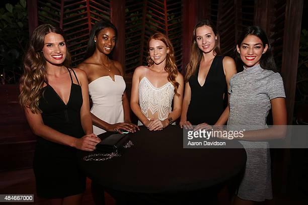 Natalie Royals Brooklyn Kennadi Kelsey Evenson Lauren Leonhardt Maria Garcia and attend Wilhelmina And European Wax Center 2015 Summer Goddess Model...