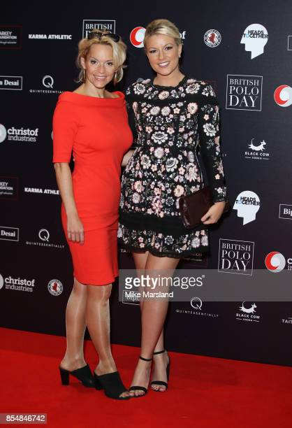 Natalie Rushdie and Kasia Madera attends the Heads Together charity auction at Saatchi Gallery on September 27 2017 in London England
