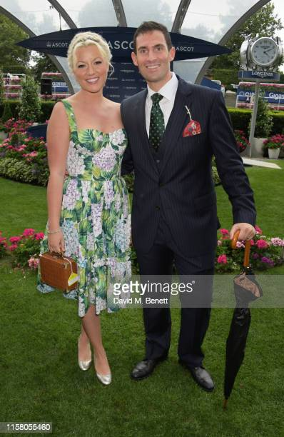 Natalie Rushdie and Zafar Rushdie attend the King George Weekend at Ascot Racecourse on July 27 2019 in Ascot England