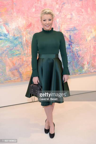 Natalie Rushdie attends a private view of EXTREMIS by Sassan BehnamBakhtiar on October 24 2019 in Dusseldorf Germany