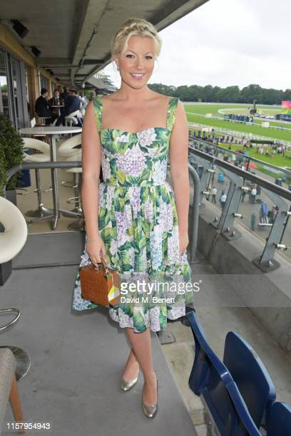Natalie Rushdie attends the King George Weekend at Ascot Racecourse on July 27 2019 in Ascot England