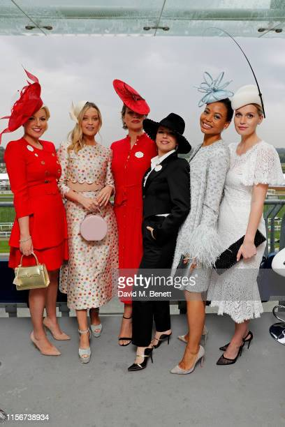 Natalie Rushdie Laura Whitmore Kate Silverton Imelda May Emma Weymouth and Lady Kitty Spencer attend day 1 of Royal Ascot at Ascot Racecourse on June...