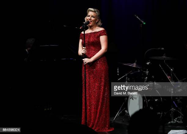 Natalie Rushdie performs at her Christmas Concert at The Other Palace on December 2 2017 in London England