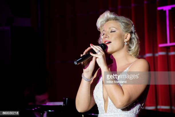 Natalie Rushdie performs live at Brasserie Zedel on August 2 2017 in London England