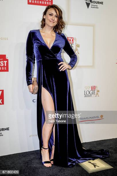 Natalie Saleeba arrives at the 59th Annual Logie Awards at Crown Palladium on April 23 2017 in Melbourne Australia