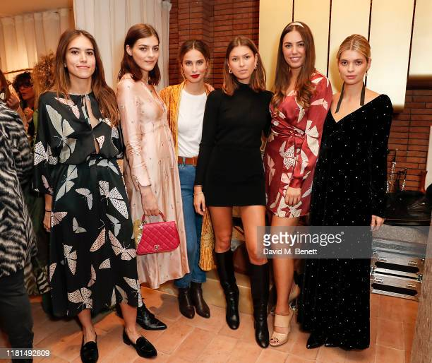 Natalie Salmon Amber Anderson Heida Reed Daniella Copperman Amber Le Bon and Pixie Geldof attend the Forte Forte store launch on October 16 2019 in...