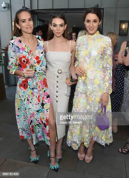 Natalie Salmon Yasmin Salmon and Rosanna Falconer attend the Royal Ascot Village Enclosure launch party at The Ham Yard Hotel on May 8 2018 in London...