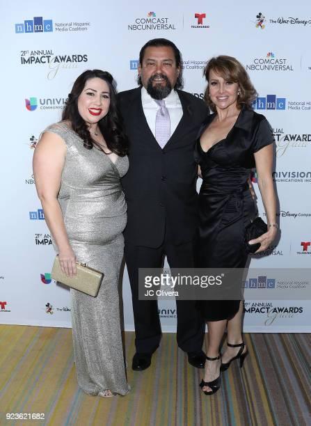 Natalie Sanchez Daniel Mora and Eliana Alexander attend the 21st Annual National Hispanic Media Coalition Impact Awards Gala at Regent Beverly...