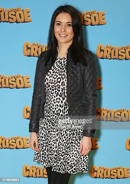 Natalie Sawyer attends a VIP screening of Robinson Crusoe at the Vue West End on April 3 2016 in London England
