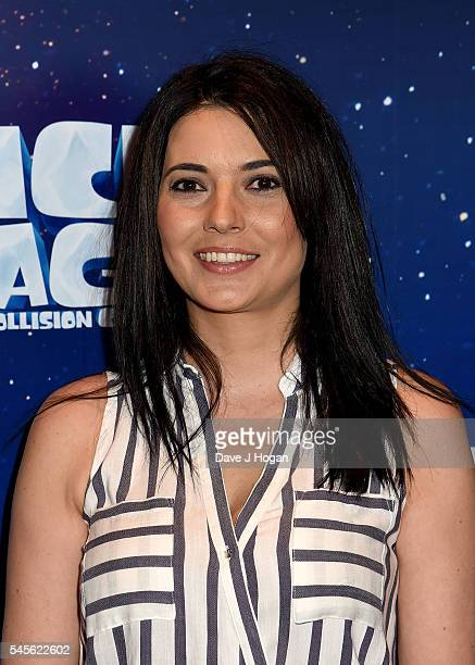 Natalie Sawyer attends the Ice Age Collision Course Gala Screening at Empire Leicester Square on July 9 2016 in London England