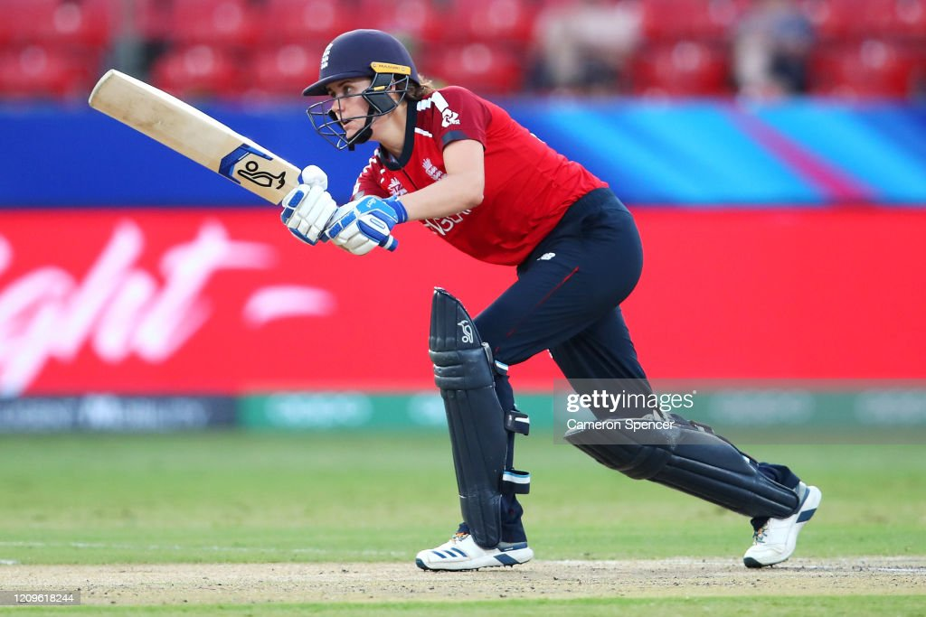 England v West Indies - ICC Women's T20 Cricket World Cup : News Photo
