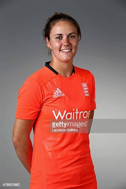 Natalie Sciver of England poses for a portrait at the National Cricket Performance Centre on July 1 2015 in Loughborough England
