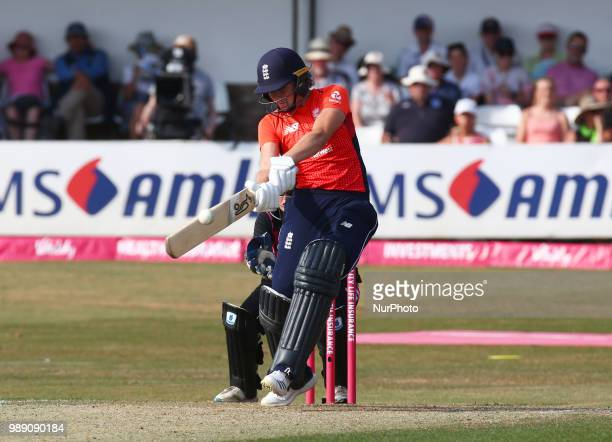 Natalie Sciver of England Women during International Twenty20 Final match between England Women and New Zealand Women at The Cloudfm County Ground...