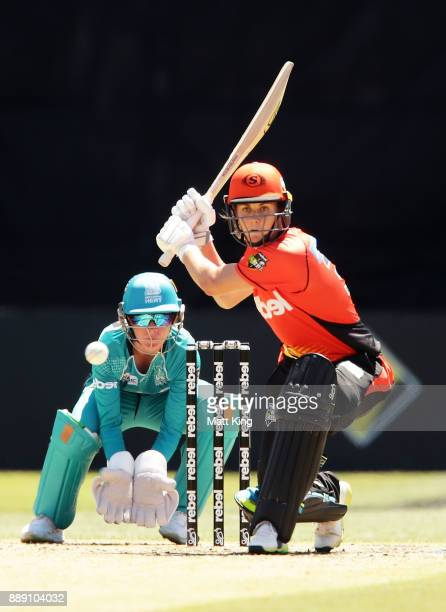 Natalie Sciver of the Scorchers bats during the Women's Big Bash League WBBL match between the Perth Scorchers and the Brisbane Heat at North Sydney...