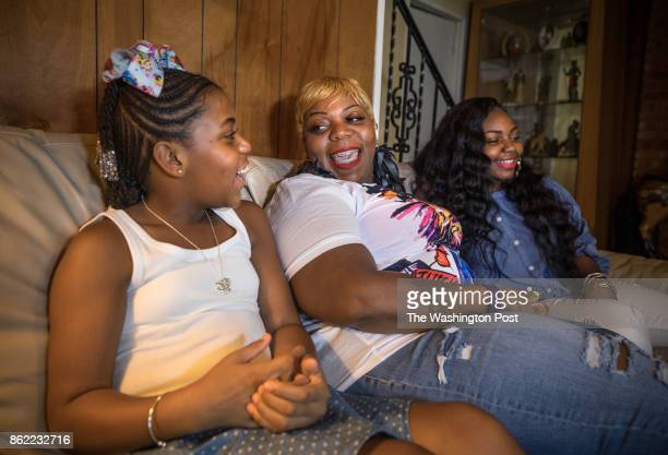 Natalie Sellman with her daughters Kailah Jefferson and Jaida Groomes at her parent's home in Suitland Maryland August 6 2017 She was told that...