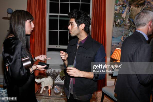 Natalie Shirinian and Joey Maalouf attend Ashley McDermott and Bridget Gless Keller Host a Cocktail Party Celebrating Mary McDonald at Private...
