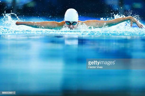 Natalie Sims of United States competes in Women's 100 m Butterfly S810 during day 5 of the Para Swimming World Championship Mexico City 2017 at...