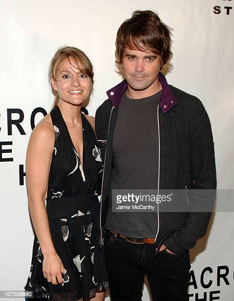 Natalie Smyka and James Oliver during Samsung and First Look Studios Presents Across The Hall Premiere Screening and Party at Samsung Experience at...