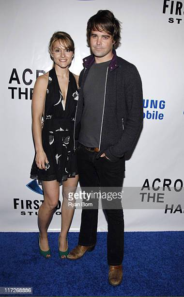 Natalie Smyka and James Oliver during Samsung Mobile Exclusive Screening of Across the Hall April 26 2006 at Time Warner Center in New York City New...