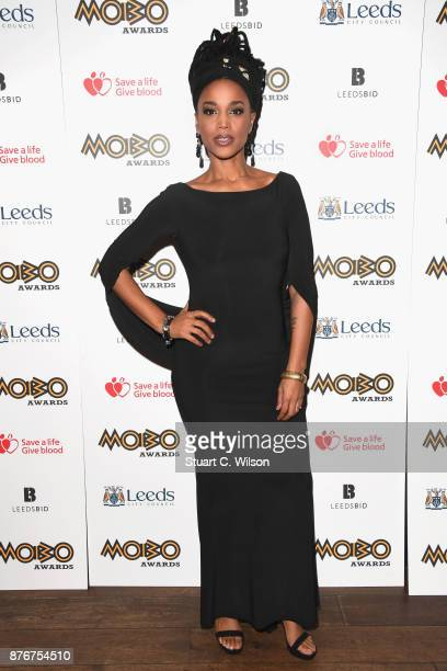 Natalie Stewart aka The Floacist attends the PreMOBO Awards Show at Boisdale of Canary Wharf on November 20 2017 in London England
