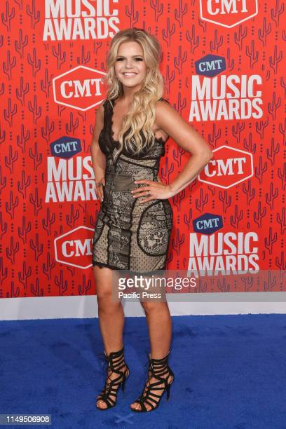 Natalie Stovall attends the 2019 CMT Music Awards at the Bridgestone Arena in Nashville Tennessee