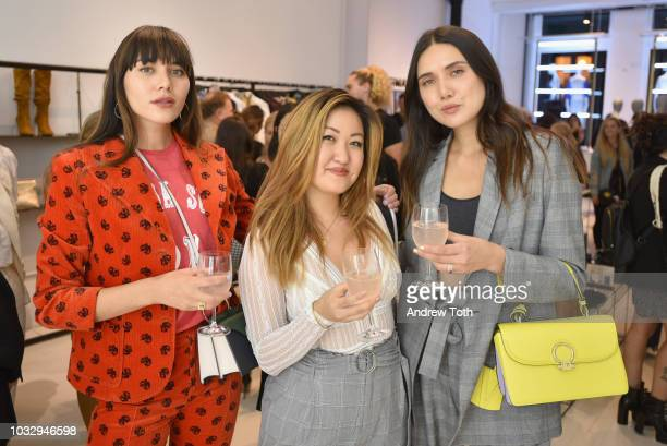 Natalie Suarez and Dylan Suarez attend the celebration of the BCBGMAXAZRIA SoHo store opening with Kate Young Bernd Kroeber and InStyle on September...