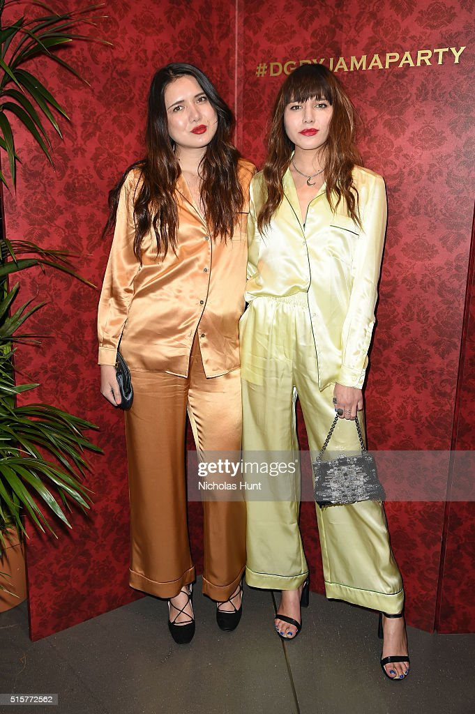 Natalie Suarez and Dylana Suarez attend the Dolce & Gabbana pyjama party at 5th Avenue Boutique on March 15, 2016 in New York City.