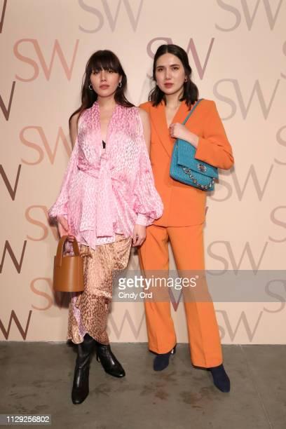 Natalie Suarez and Dylana Suarez attends Stuart Weitzman Spring Celebration 2019 on February 12 2019 in New York City