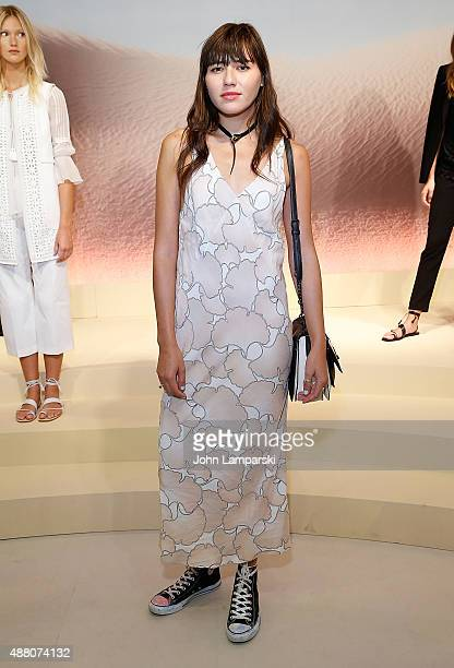 Natalie Suarez attends Elie Tahari presentation during Spring 2016 New York Fashion Week at Elie Tahari on September 13 2015 in New York City