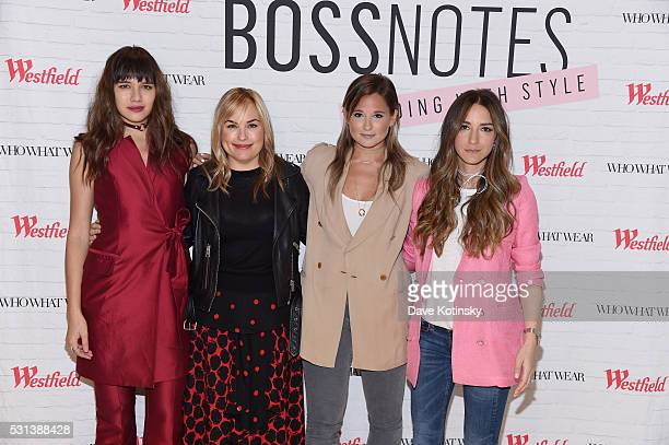 Natalie Suarez Hillary Kerr Danielle Bernstein and Arielle Charnas attends the Westfield x Who What Wear Presents Boss Notes at Westfield Garden...